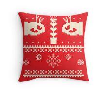 Ugly Mario Christmas Sweater Throw Pillow
