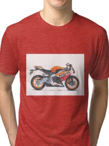 Illustrated Graphic Tee -  Honda Repsol Motorcycle Tri-blend T-Shirt
