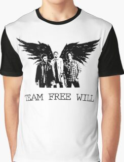 Team Free Will Supernatural Graphic T-Shirt