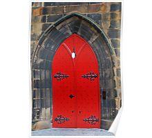 Red Door Of Salvation Poster