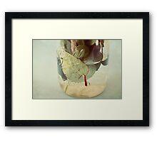leaves underwater Framed Print