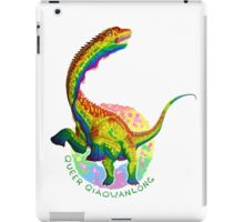 Queer Qiaowanlong (with text)  iPad Case/Skin