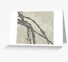 Graphic Barb Wire Greeting Card