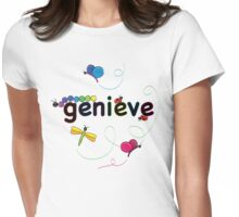 genieve w bugs Womens Fitted T-Shirt