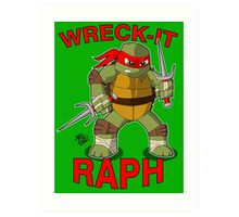 Wreck-It Raph Art Print