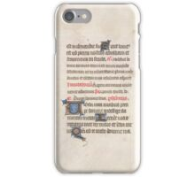 Medieval Illuminated Manuscript iPhone Case/Skin