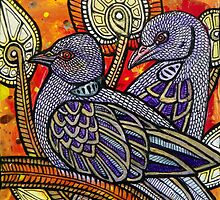 Two Turtle Doves by Lynnette Shelley