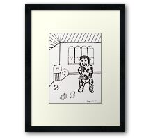 """ I Want My Milk "" Framed Print"
