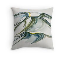 "Rolling, ""Deep Calls to Deep"" Ocean series Throw Pillow"