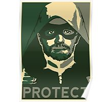 Green Arrow - Protect  Poster