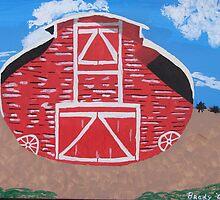 Redwood Farm Barn by Brady Harness