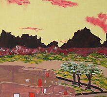 New Mexico Adobe Home by Brady Harness