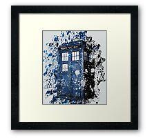 Blue Box Dispersion Framed Print
