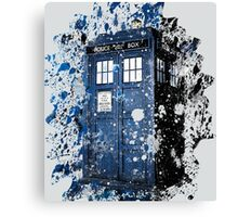 Blue Box Dispersion Canvas Print