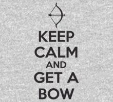 Keep Calm and Get A Bow T Shirt One Piece - Long Sleeve