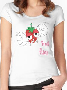 Fruit flies Women's Fitted Scoop T-Shirt