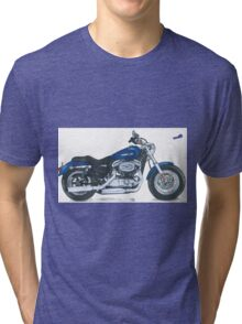 Illustrated Graphic Tee - Harley Sportster 1200 Tri-blend T-Shirt