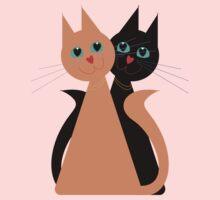Feline Friends One Piece - Long Sleeve
