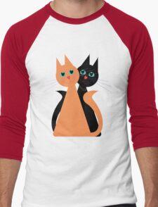 Feline Friends Men's Baseball ¾ T-Shirt