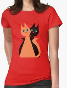 Feline Friends Womens Fitted T-Shirt