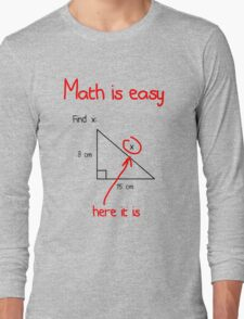 Math is Easy Long Sleeve T-Shirt