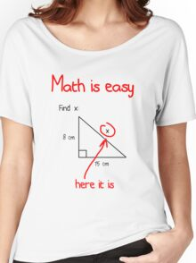 Math is Easy Women's Relaxed Fit T-Shirt