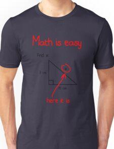 Math is Easy Unisex T-Shirt