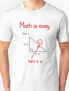 Math is Easy Unisex T-Shirt