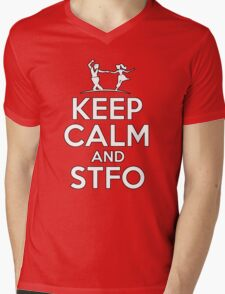 Keep Calm and Swing The Fuck Out Mens V-Neck T-Shirt