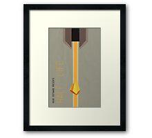 Half Life Minimal Poster Framed Print