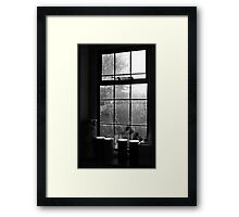 Looking through the kitchen window Framed Print