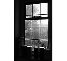 Looking through the kitchen window Photographic Print
