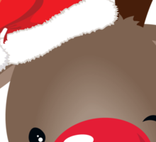 FESTIVE CHRISTMAS T-SHIRT :: rudolph the red nosed reindeer Sticker