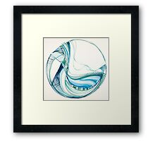 Woven, Deep Calls to Deep Ocean series, Meditation Mandala Framed Print