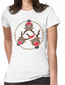 FESTIVE CHRISTMAS T-SHIRT :: rudolph the red nosed reindeer Womens Fitted T-Shirt