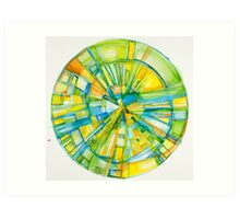 Slice of Pi, Meditation Mandala Series Art Print