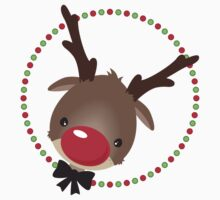 FESTIVE CHRISTMAS T-SHIRT :: rudolph the red nosed reindeer Kids Tee