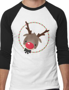 FESTIVE CHRISTMAS T-SHIRT :: rudolph the red nosed reindeer Men's Baseball ¾ T-Shirt