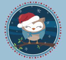 FESTIVE CHRISTMAS T-SHIRT :: boy owl night time One Piece - Short Sleeve