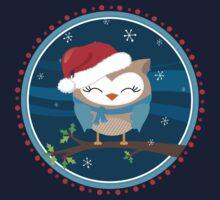 FESTIVE CHRISTMAS T-SHIRT :: boy owl night time One Piece - Long Sleeve