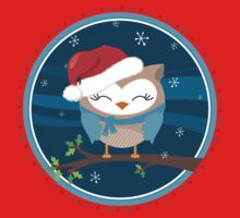 FESTIVE CHRISTMAS T-SHIRT :: boy owl night time Kids Clothes