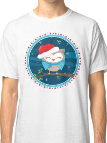 FESTIVE CHRISTMAS T-SHIRT :: boy owl night time Classic T-Shirt