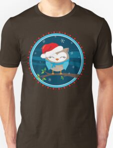 FESTIVE CHRISTMAS T-SHIRT :: boy owl night time Unisex T-Shirt