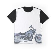 Illustrated Graphic Tee - Harley Dyna  Graphic T-Shirt