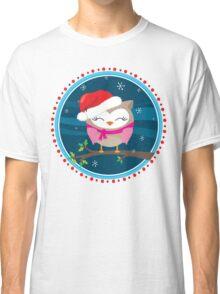 FESTIVE CHRISTMAS T-SHIRT :: girl owl night time Classic T-Shirt
