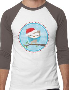FESTIVE CHRISTMAS T-SHIRT :: boy owl day time Men's Baseball ¾ T-Shirt