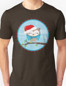 FESTIVE CHRISTMAS T-SHIRT :: boy owl day time T-Shirt
