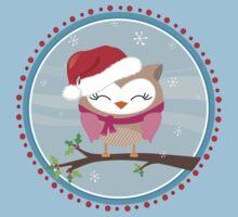 FESTIVE CHRISTMAS T-SHIRT :: girl owl day time One Piece - Short Sleeve