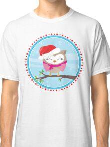 FESTIVE CHRISTMAS T-SHIRT :: girl owl day time Classic T-Shirt