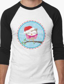 FESTIVE CHRISTMAS T-SHIRT :: girl owl day time Men's Baseball ¾ T-Shirt